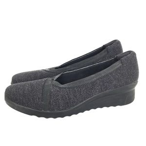 Clarks Cloud Stepper Wedge Shoes Woman's Size 7.5